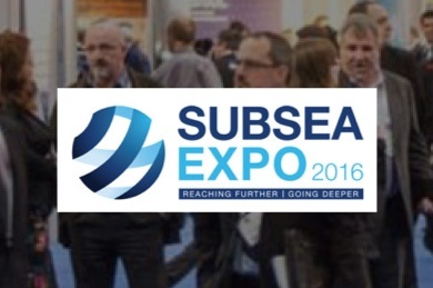 We're exhibiting at SUBSEA EXPO 2016