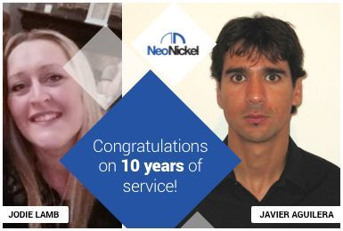 Congratulations to Jodie and Javier on 10 years of service!