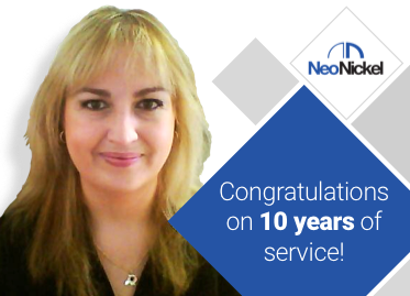 Congratulations to Sonia Simón on 10 years of service!