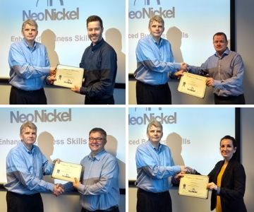 NeoNickel Employees Complete Enhanced Business Skills Course